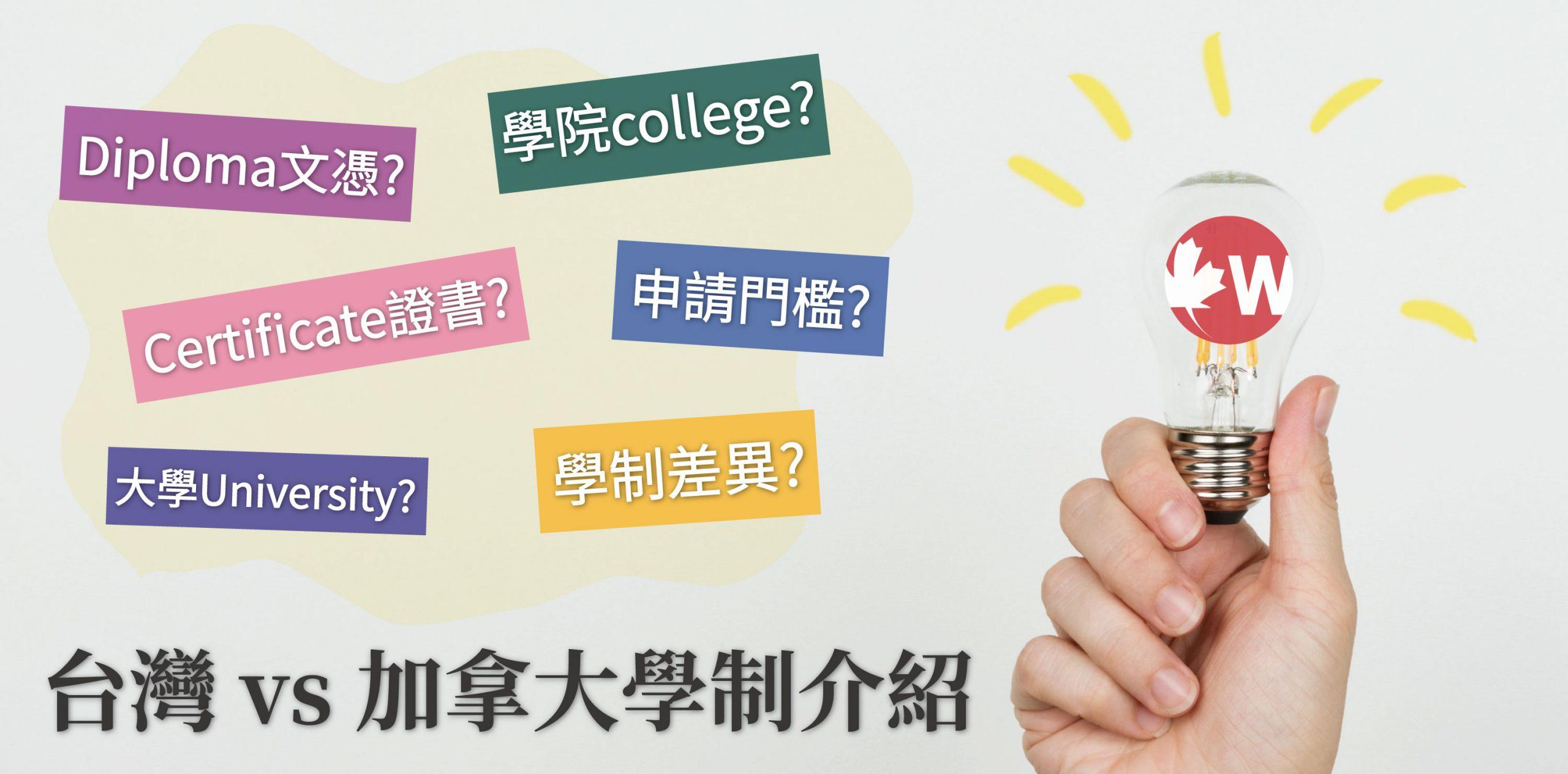 【台灣 vs 加拿大學制介紹】